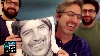 Ray Romano's Sons Compete in Family Scavenger Hunt