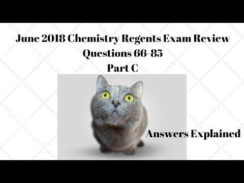 June 2018 Chemistry Regents Part C Answers Explained - YouTube