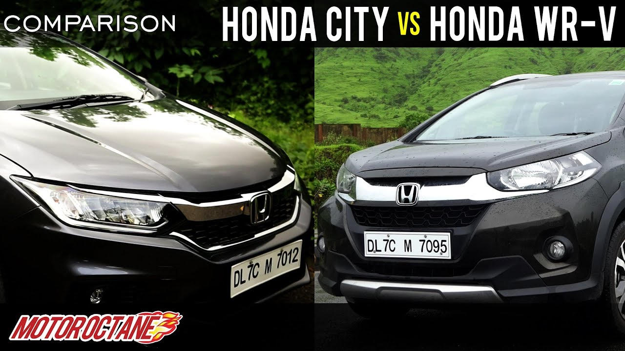 Motoroctane Youtube Video - Honda City vs Honda WRV Comparison | Hindi | MotorOctane