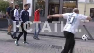 Аргентина против Хорватии сошлись на нижегородских улицах за день до матча