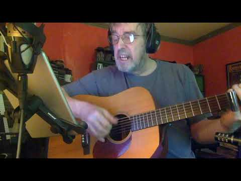 Crossroads. Blues guitar with slide.