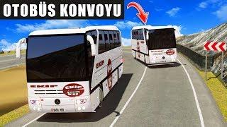 Dağ Yollarında Otobüs Konvoyu !!