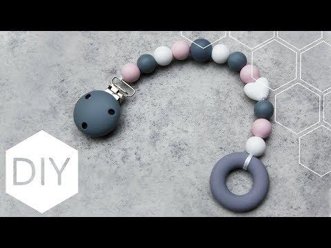 DIY sieraden maken met Kralenhoekje - Speenkoord met siliconen kralen
