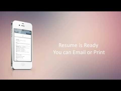 Vidéo Facile CV Builder