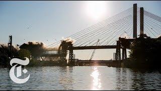 Watch Old Kosciuszko Bridge Implode in 360 Video