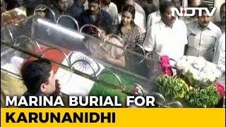 Karunanidhi To Have Burial Site At Marina Beach, Says Court