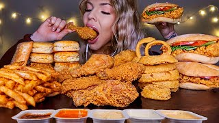 ASMR MOST POPULAR FOOD AT POPEYES (CHICKEN SANDWICH, FRIED CHICKEN, CAJUN FRIES, BISCUITS MUKBANG 먹방