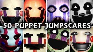 50 PUPPET JUMPSCARES! | Marionette in FNAF & Fangames