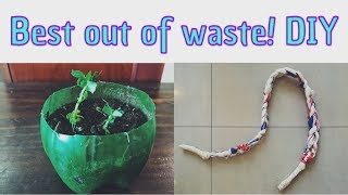 EARTH DAY PROJECT IDEAS!   DIY   BEST OUT OF WASTE