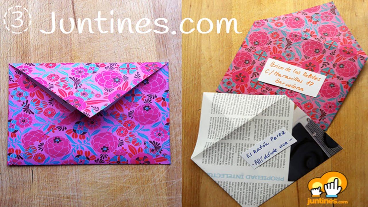 Sobre de papel: papiroflexia fácil