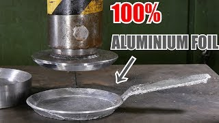 Making Frying Pan from Aluminium Foil with Hydraulic Press | in 4K - Video Youtube