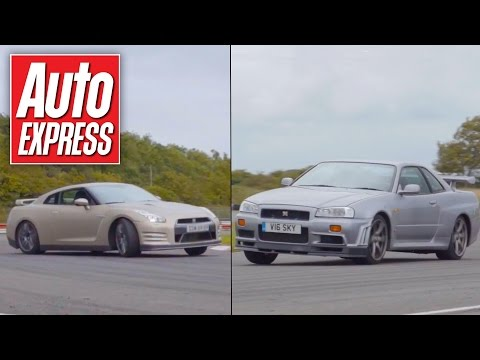Nissan Skyline R34 vs Nissan GT-R track battle