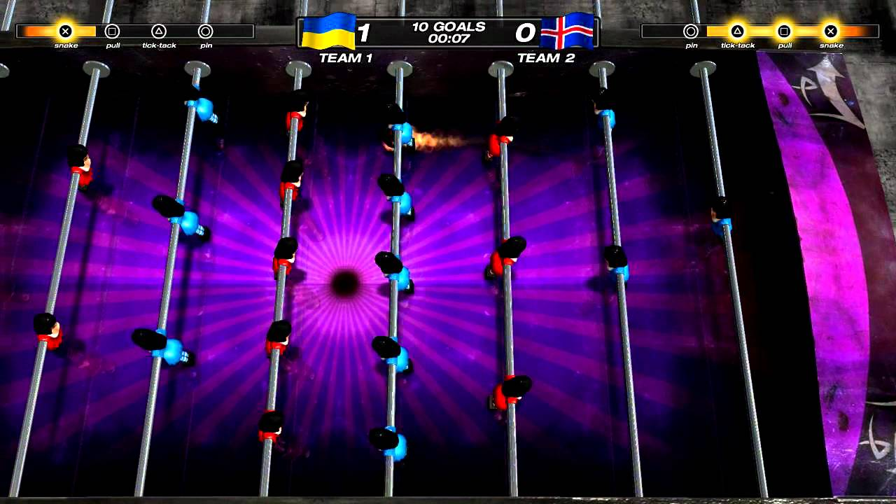 Foosball 2012: Single-player and Multiplayer Options