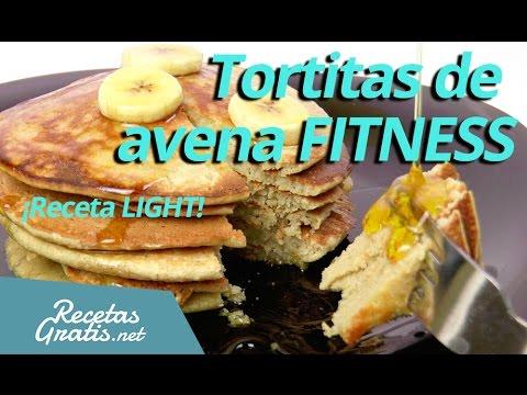 Tortitas de AVENA FITNESS - Receta de tortitas ligeras