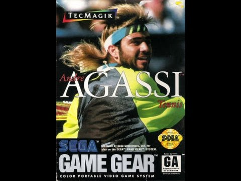Andre Agassi Tennis Game Gear