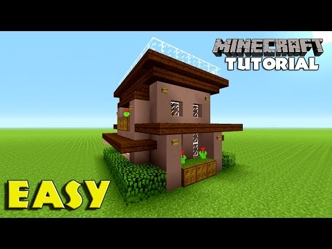 Minecraft How To Build A Survival House Tutorial Simple Easy Small Minecraft House Tutorial Minecraftvideos Tv