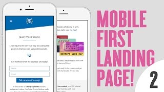 Design & Code a Mobile First Landing Page! (2/4)