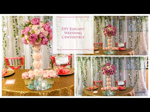 DIY Tall Elegant Wedding Centerpiece | DIY Wedding Centerpieces | DIY Tutorial |DOLLAR TREE!!! Mp3