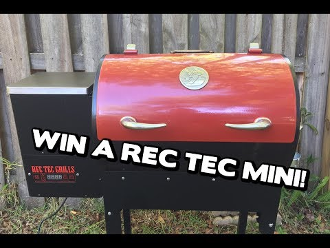 Unboxing and Review of the NEW Upgraded REC TEC Mini Pellet Grill