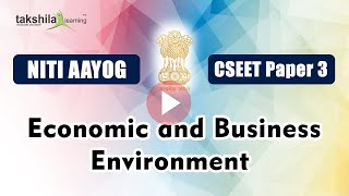 CSEET Paper 3 - Economic and Business Environment - NITI AAYOG || cseet current affairs