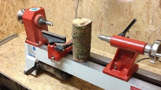 Woodturning - £3 log into a  £2 Goblet !!