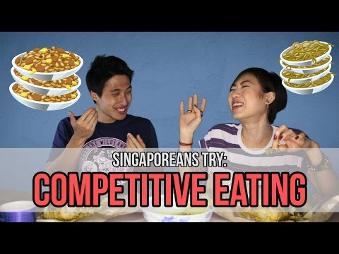 Singaporeans Try: Competitive Eating (feat. Zermatt Neo and Thomasina Ow) | EP 53
