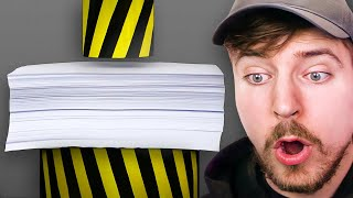 Hydraulic Press vs 1000 Sheets Of Paper
