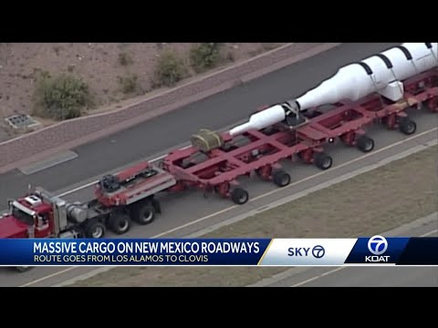 Massive rotor moving through New Mexico