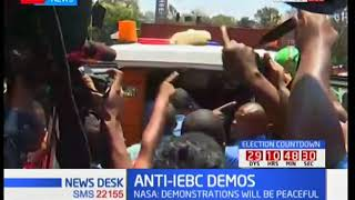 One of the NASA supporters gets injured during the anti-IEBC demos