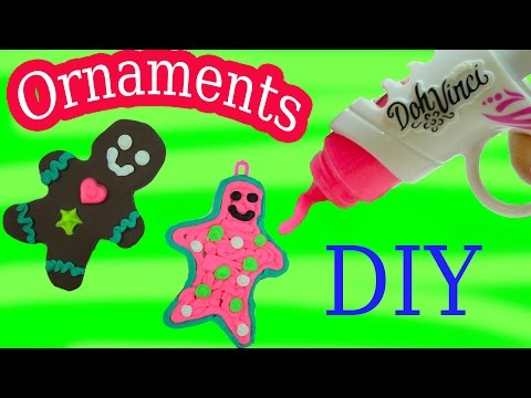 Playdoh DohVinci DIY Gingerbread Man Cookies Christmas Holiday Ornaments Maker Toy Play Doh Vinci