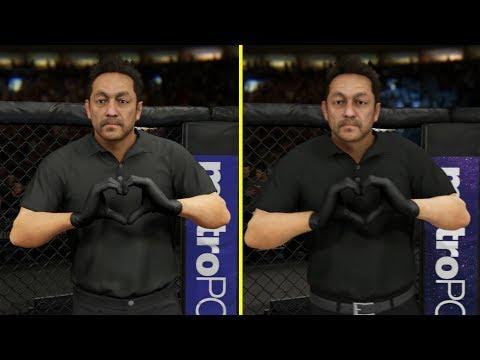 UFC 2 vs UFC 3 BETA Xbox One X Graphics Comparison