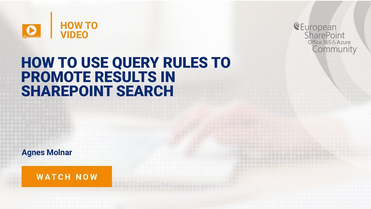 How To use Query Rules to Promote Results in SharePoint Search