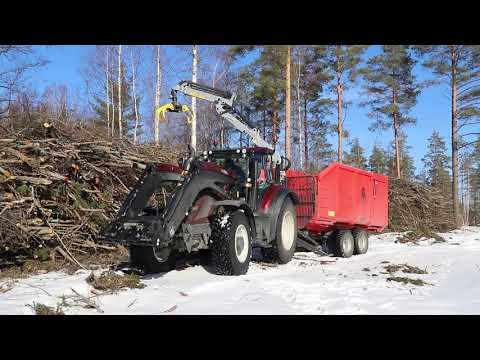 KESLA 144HD & 316T Energy wood loading