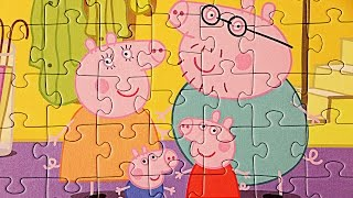 Peppa Pig Puzzle 3 in 1 -  Part 2 - Peppa Pig and Family