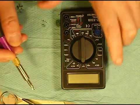 Ремонт мультиметра DT-830B