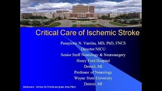 Critical Care of Ischemic Stroke
