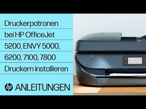 Installieren von Druckerpatronen bei Druckern der Serie HP OfficeJet 5200 und ENVY 5000, 6200, 7100 und 7800