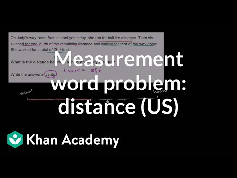 Measurement word problem: distance home (video) | Khan Academy