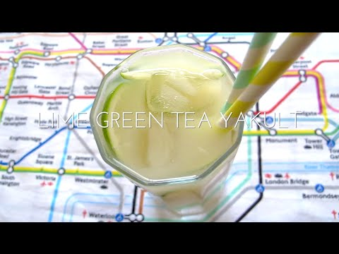 Video Lime Green Tea Yakult - Refreshing Summer Drink| ReaHasNoIdea