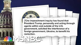 House Intelligence Committee Releases Impeachment Report | Deadline | MSNBC