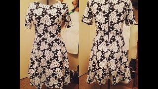 SEWING A FLORAL FIT AND FLARE DRESS WITH ZIPPER AND HAND SEWN HEMS