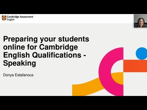 Preparing your students online for Speaking papers in Cambridge ...
