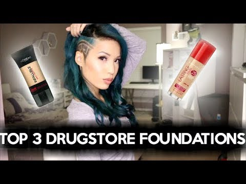 TOP 3 DRUGSTORE FOUNDATIONS | OILY SKIN