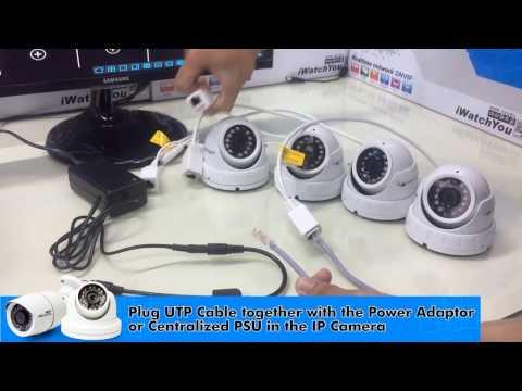 Cách cài đặt Camera IP CCTV bằng hub chuyển mạng