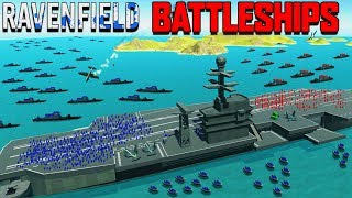 NEW BATTLESHIPS vs AIRCRAFT CARRIER & Planes! (Ravenfield Beta 6 Part 8 New Update))