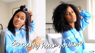 My 3C Curly Hair Routine (updated) | Melodyslife