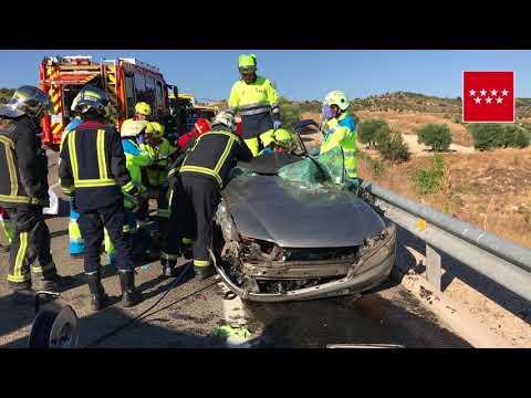 Accidente de tráfico M-317 (Valdelaguna). 1 herido grave y otro leve.