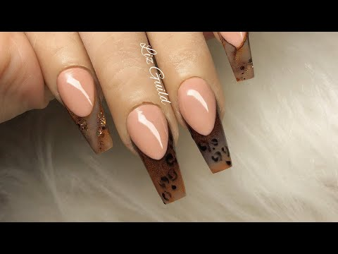 Download AUTUMN / FALL LEOPARD PRINT ACRYLIC NAILS HD Mp4 3GP Video and MP3