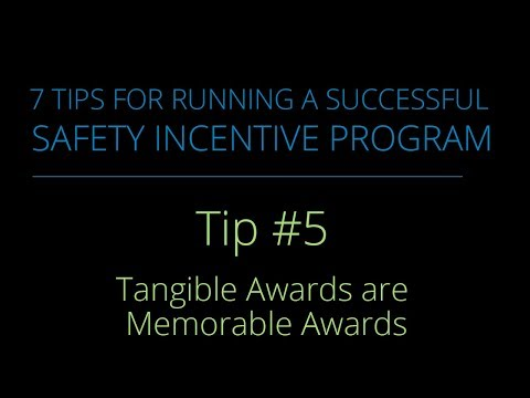 Tip #5 – Tangible Awards are Memorable Awards