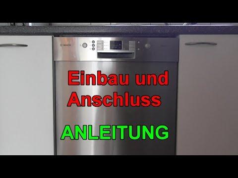 Geschirrspüler einbauen & anschließen - Anleitung - Spülmaschine selbst installieren